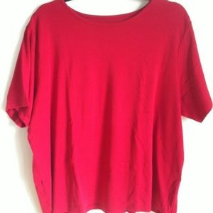 L.L.BEAN Women's Red T Shirt Size 3X